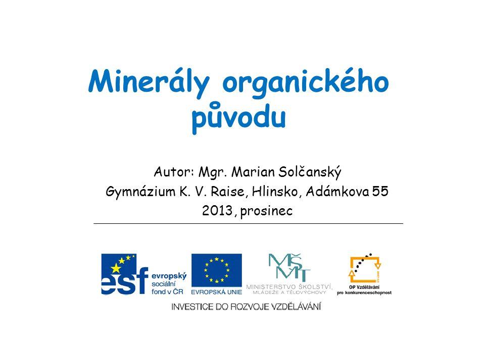 Minerály organického původu