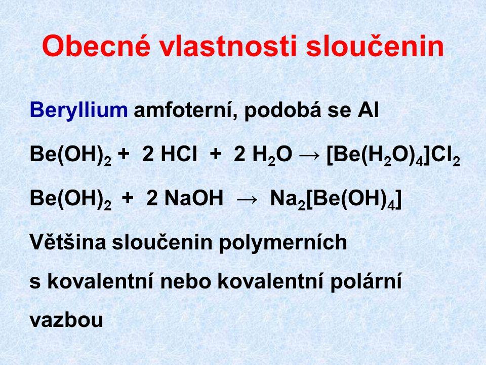 Obecné vlastnosti sloučenin