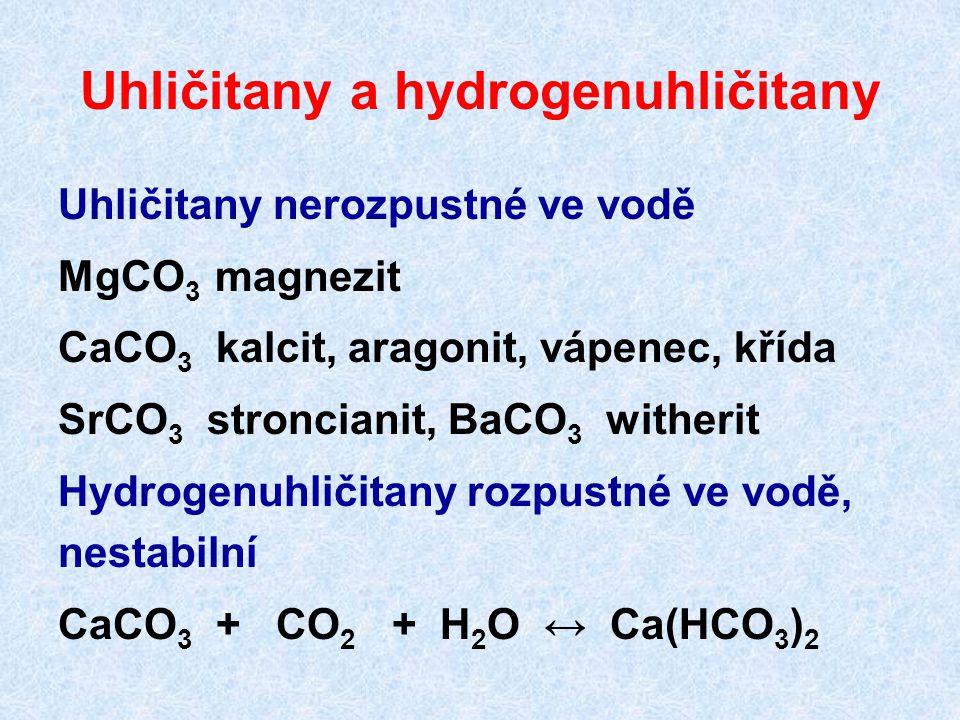 Uhličitany a hydrogenuhličitany