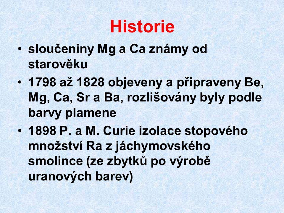 Historie sloučeniny Mg a Ca známy od starověku