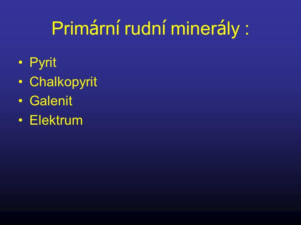 Primární rudní minerály :