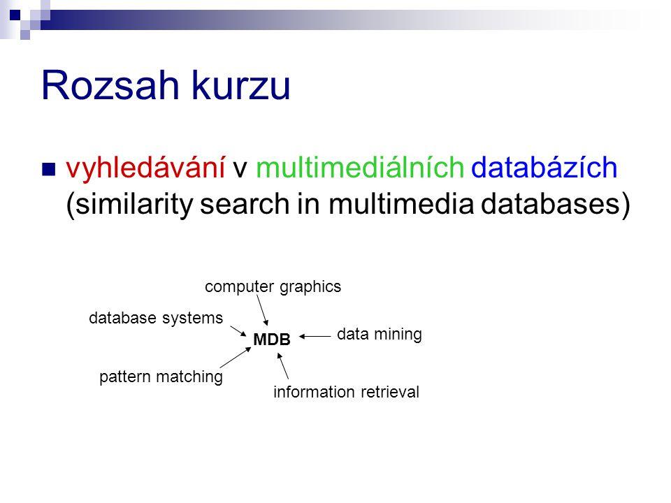 Rozsah kurzu vyhledávání v multimediálních databázích (similarity search in multimedia databases) computer graphics.