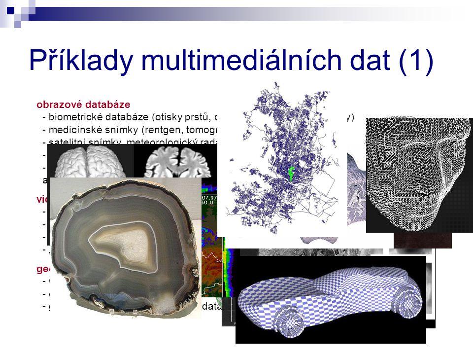 Příklady multimediálních dat (1)