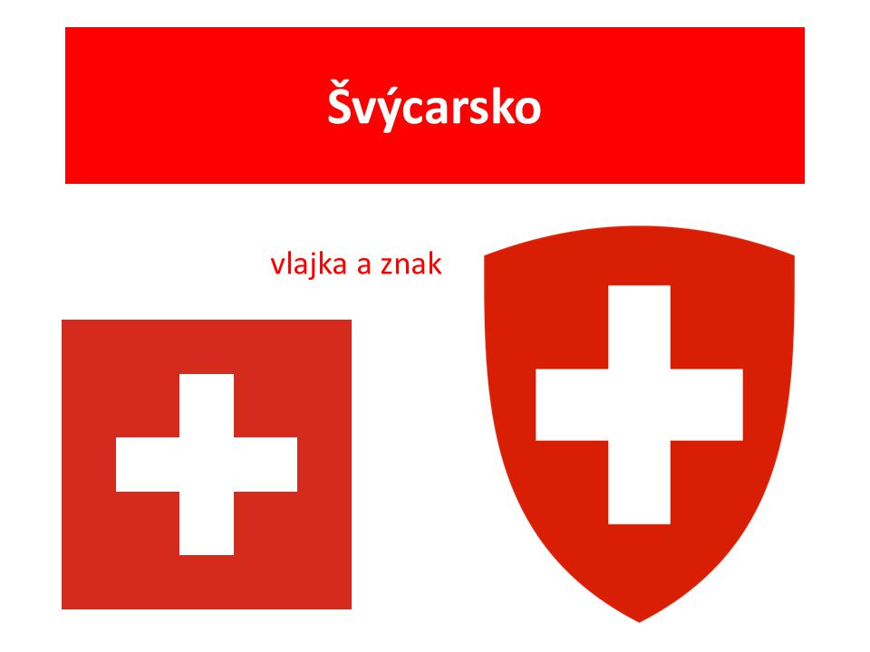 Švýcarsko vlajka a znak