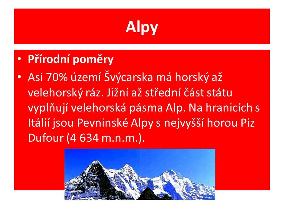 Alpy Přírodní poměry.