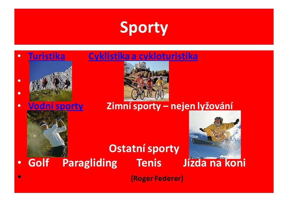 Sporty Ostatní sporty Golf Paragliding Tenis Jízda na koni