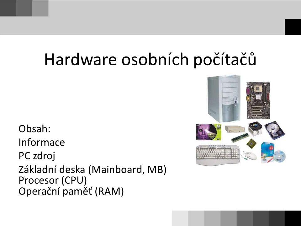 Hardware osobních počítačů
