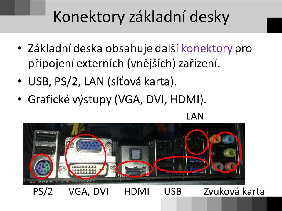 Konektory základní desky