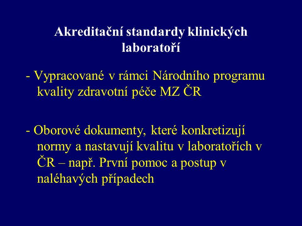 Akreditační standardy klinických laboratoří