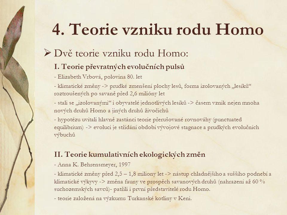 3. Hominizační proces oddělení čeledi Hominidae v rámci řadu primatů