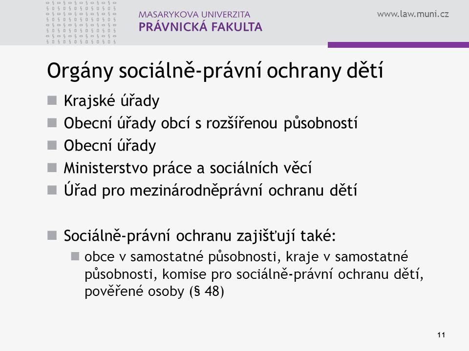 Orgány sociálně-právní ochrany dětí