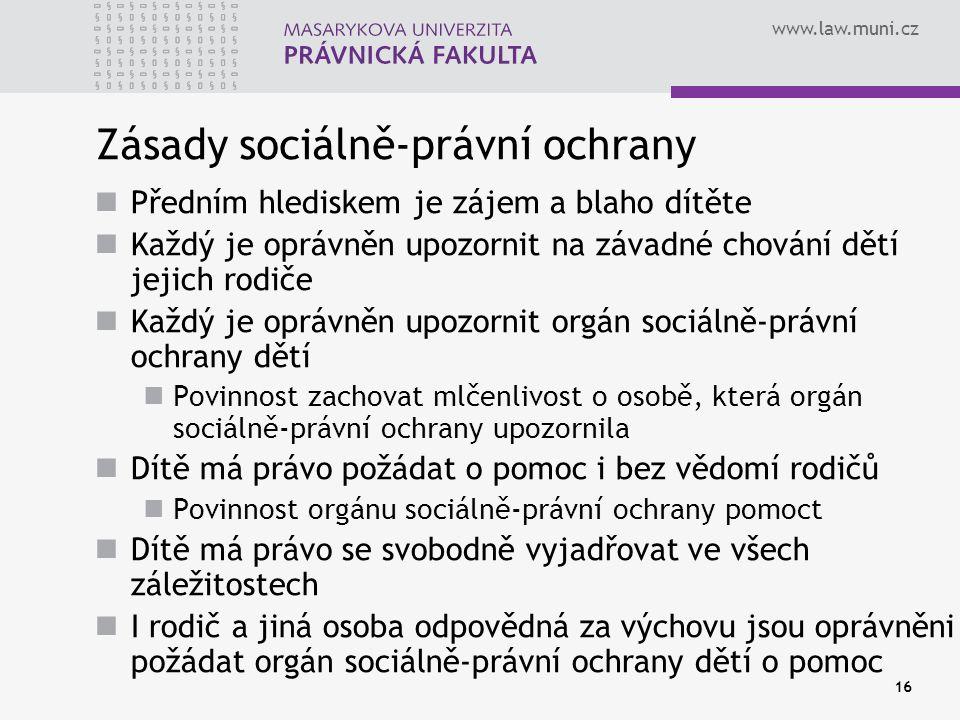 Zásady sociálně-právní ochrany