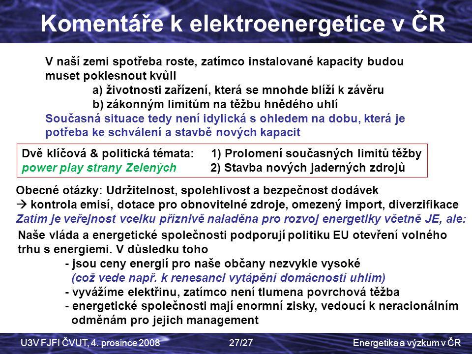 Komentáře k elektroenergetice v ČR