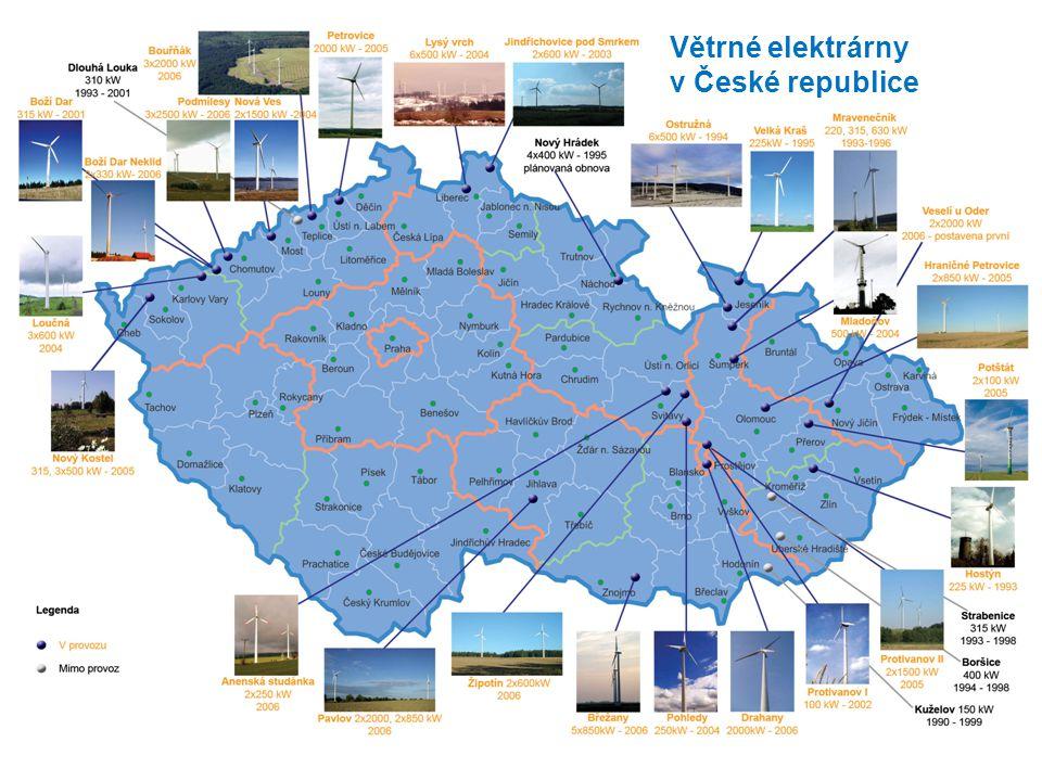 Větrné elektrárny v České republice