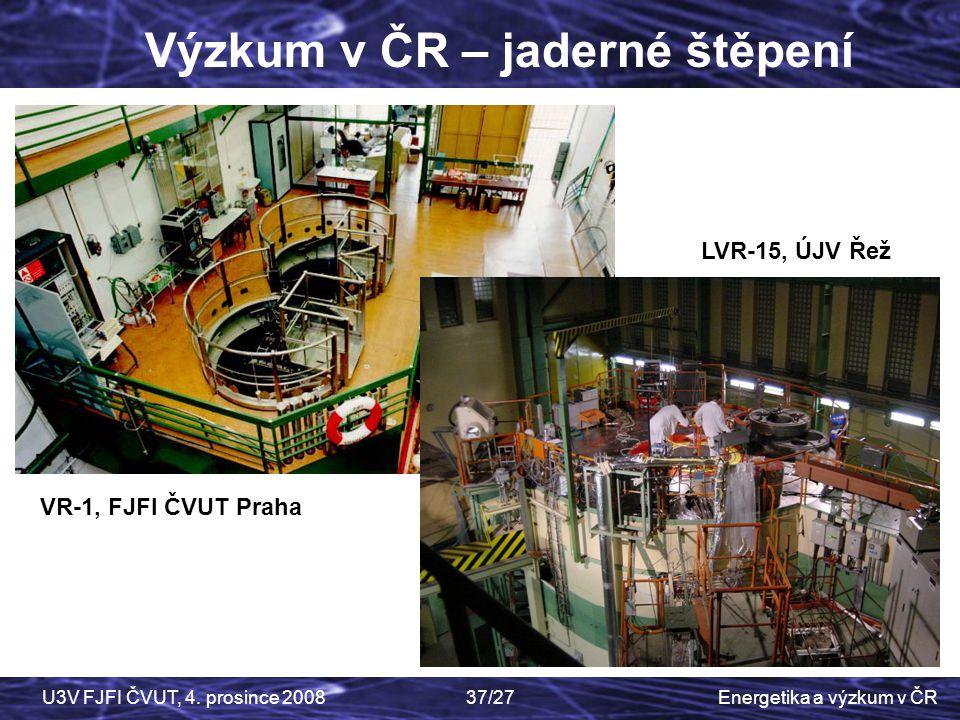 Výzkum v ČR – jaderné štěpení