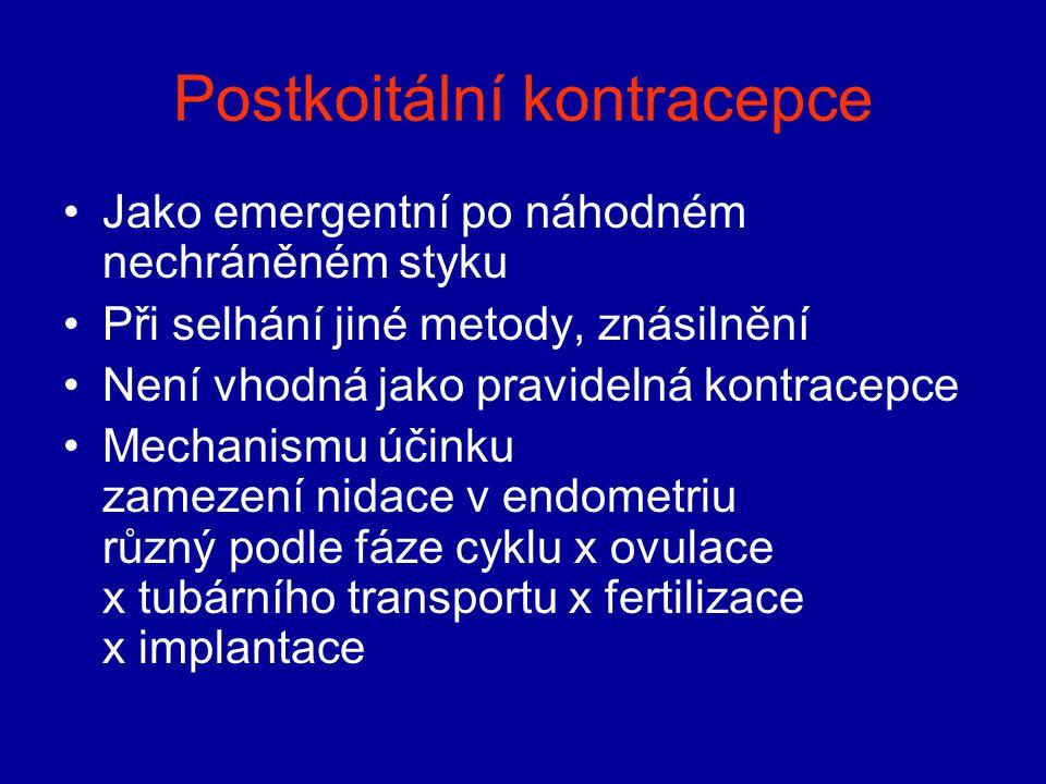 Postkoitální kontracepce