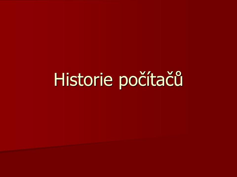 Historie počítačů