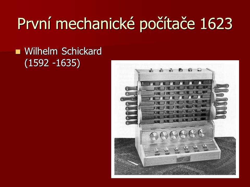 První mechanické počítače 1623