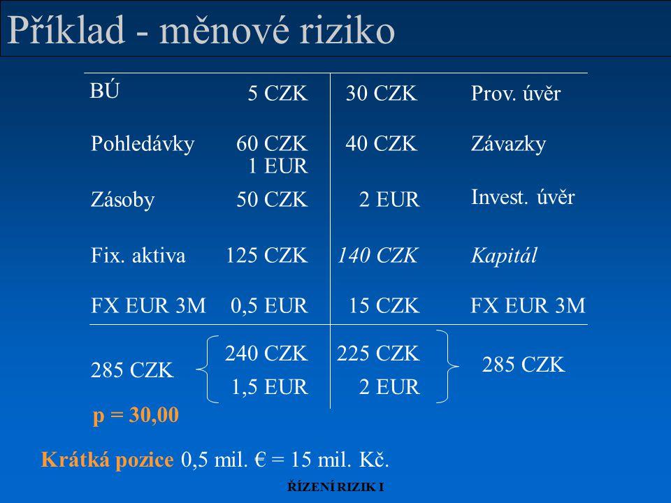 Příklad - měnové riziko