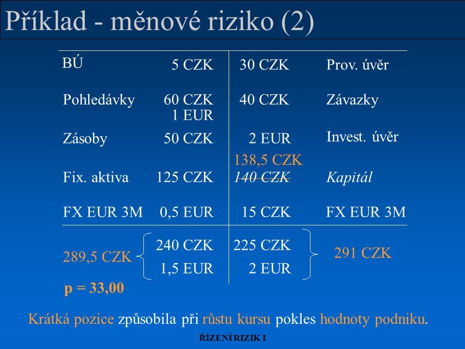 Příklad - měnové riziko (2)