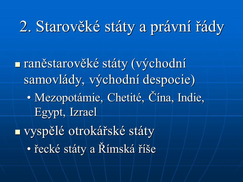 2. Starověké státy a právní řády