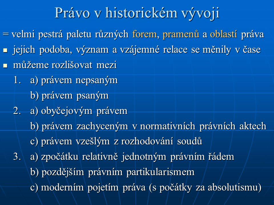 Právo v historickém vývoji