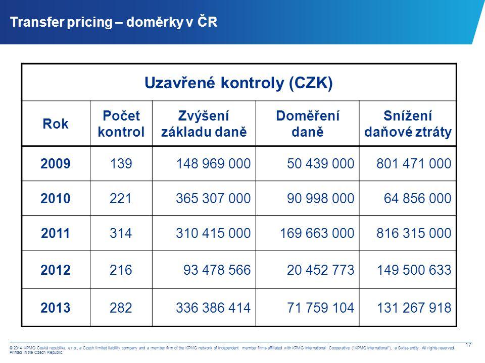 Transfer pricing – globální přístup