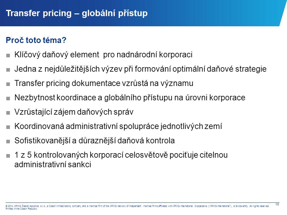 Transfer pricing – současná situace v ČR