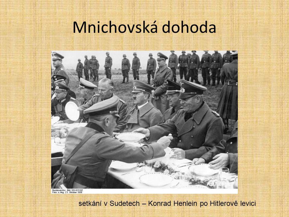 setkání v Sudetech – Konrad Henlein po Hitlerově levici