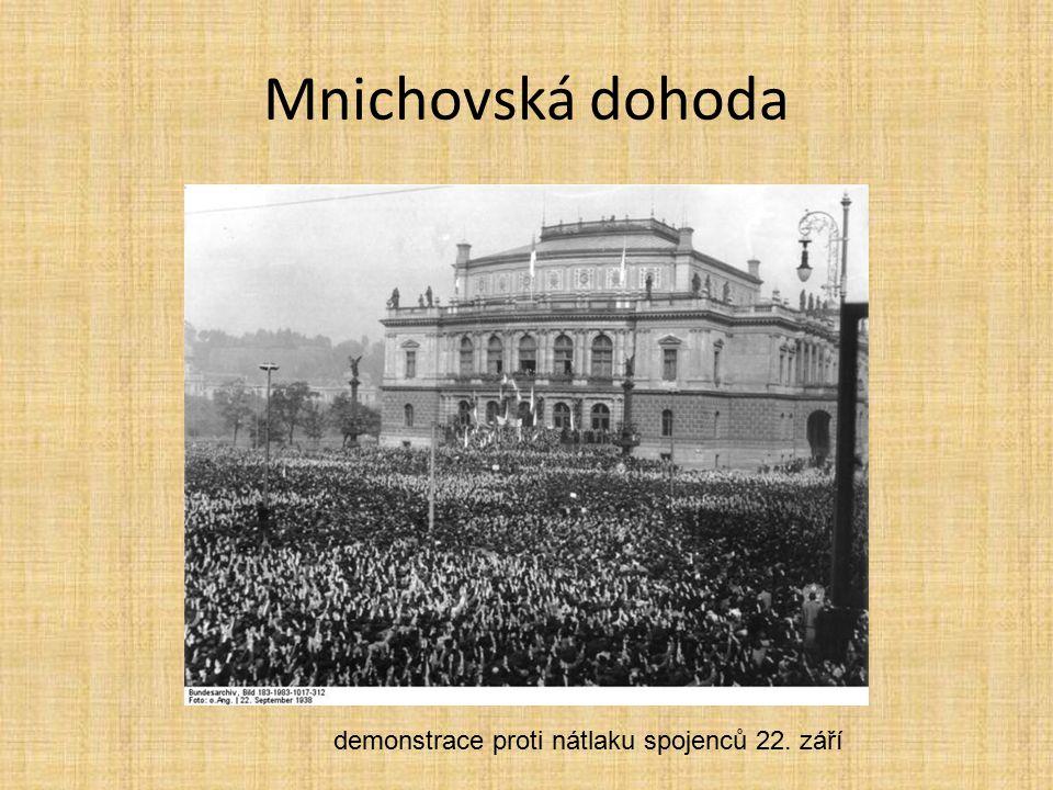 demonstrace proti nátlaku spojenců 22. září