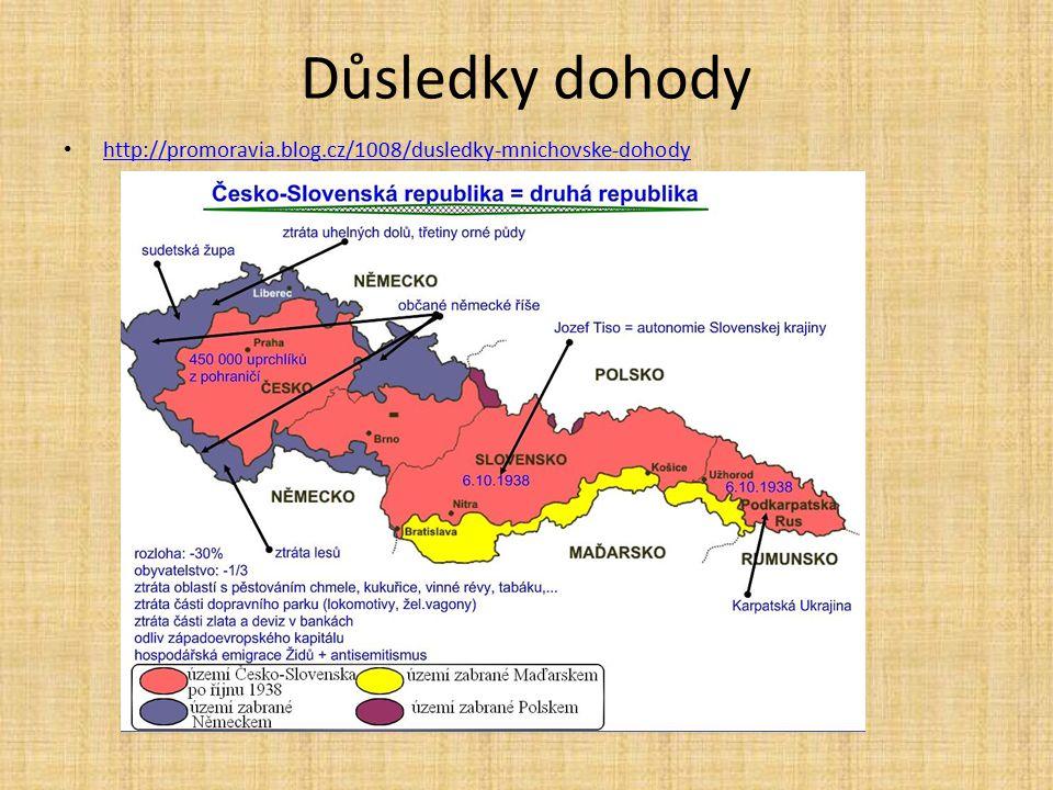 Důsledky dohody http://promoravia.blog.cz/1008/dusledky-mnichovske-dohody