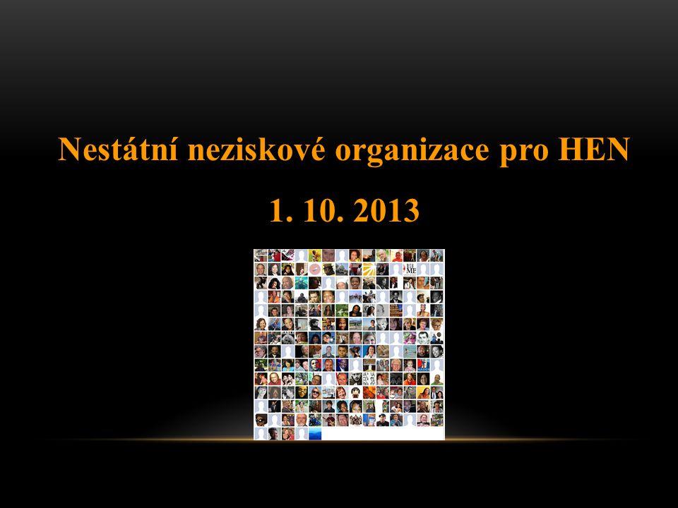 Nestátní neziskové organizace pro HEN