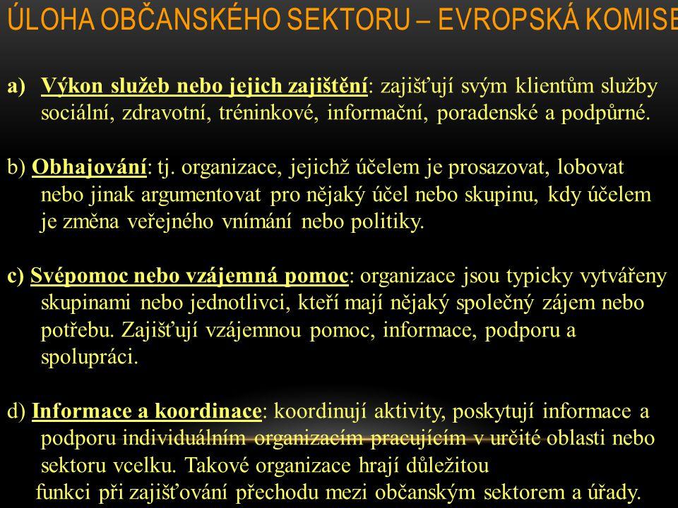 Úloha občanského sektoru – Evropská komise