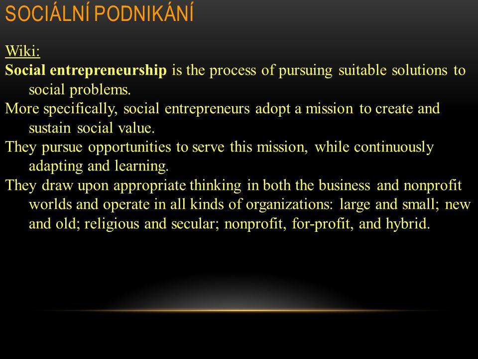 Sociální podnikání Wiki:
