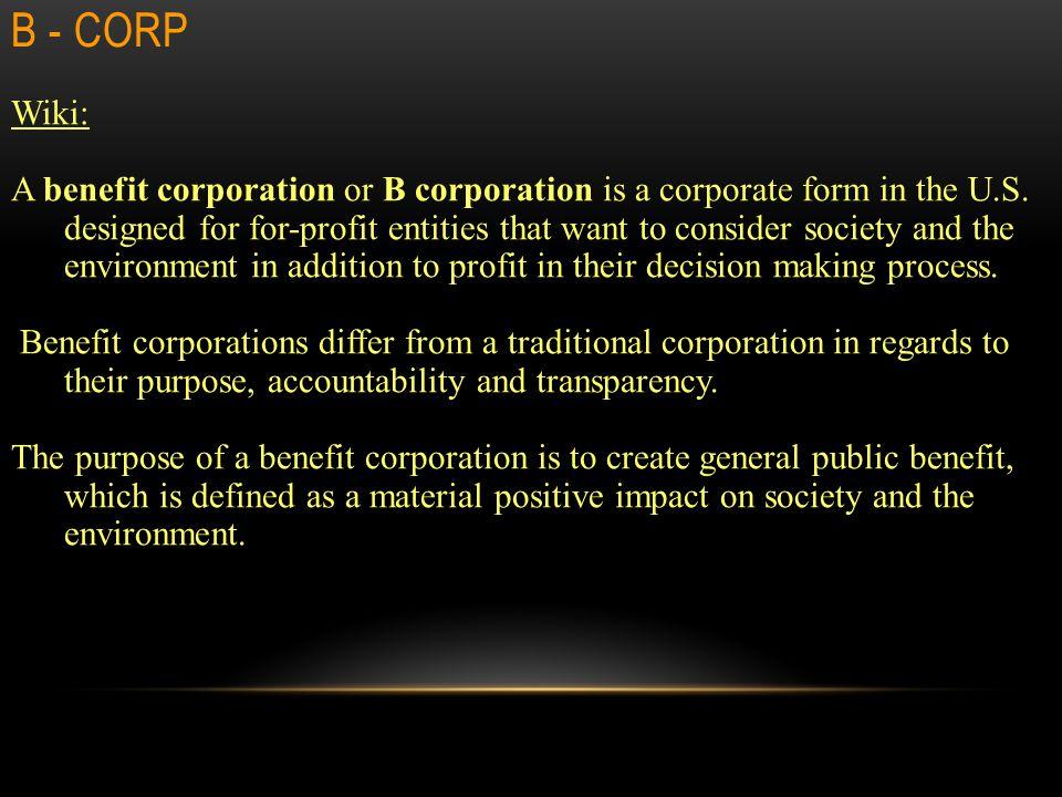 B - Corp Wiki: