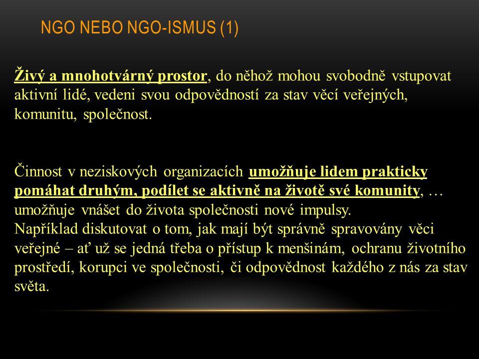 NGO nebo NGO-ismus (1)