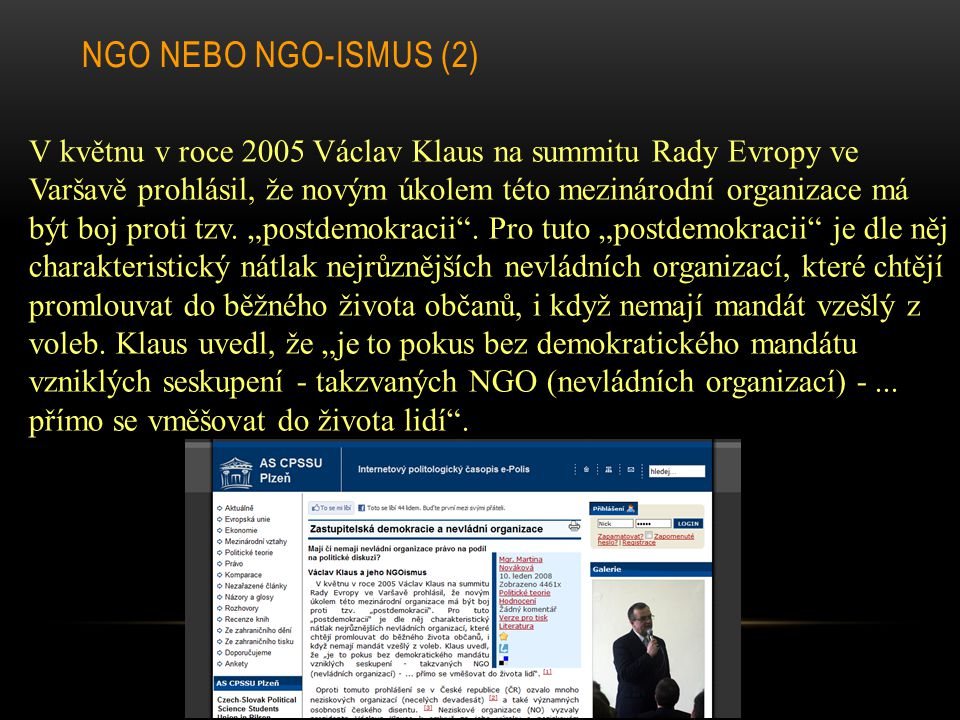 NGO nebo NGO-ismus (2)