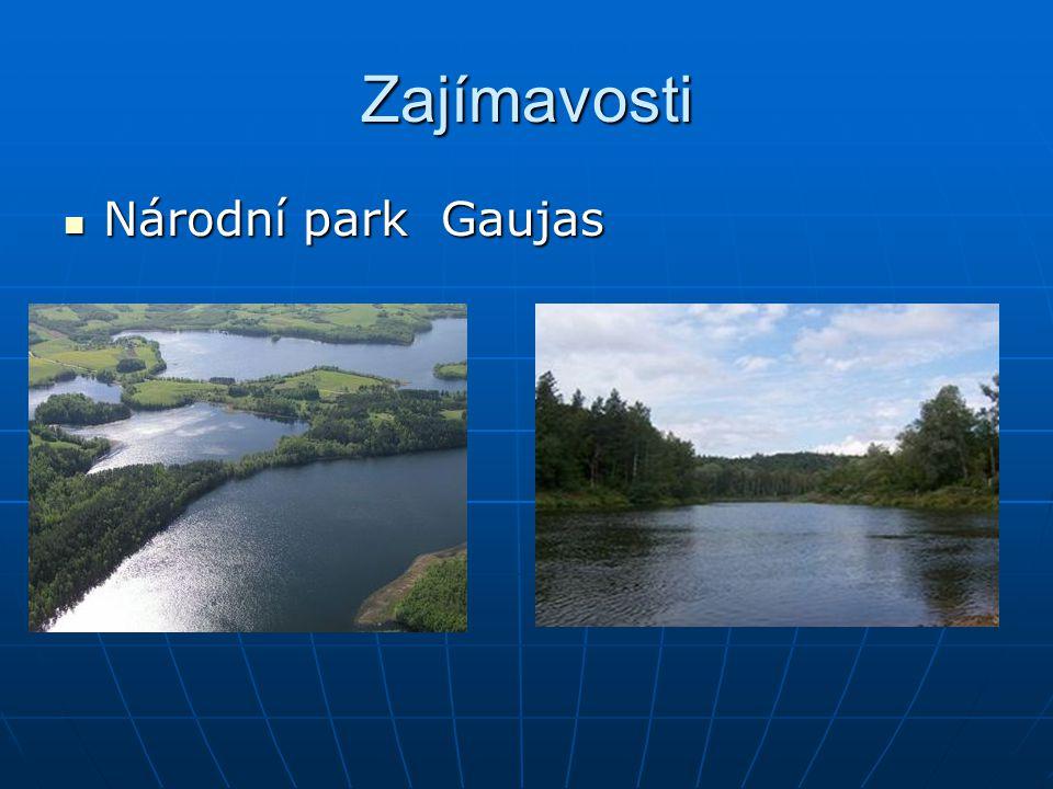 Zajímavosti Národní park Gaujas