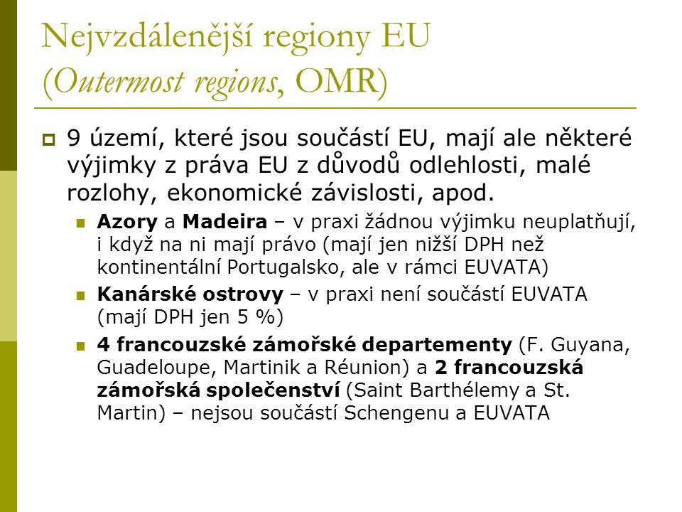 Nejvzdálenější regiony EU (Outermost regions, OMR)