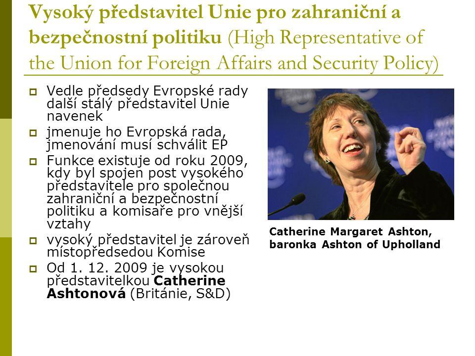 Vysoký představitel Unie pro zahraniční a bezpečnostní politiku (High Representative of the Union for Foreign Affairs and Security Policy)