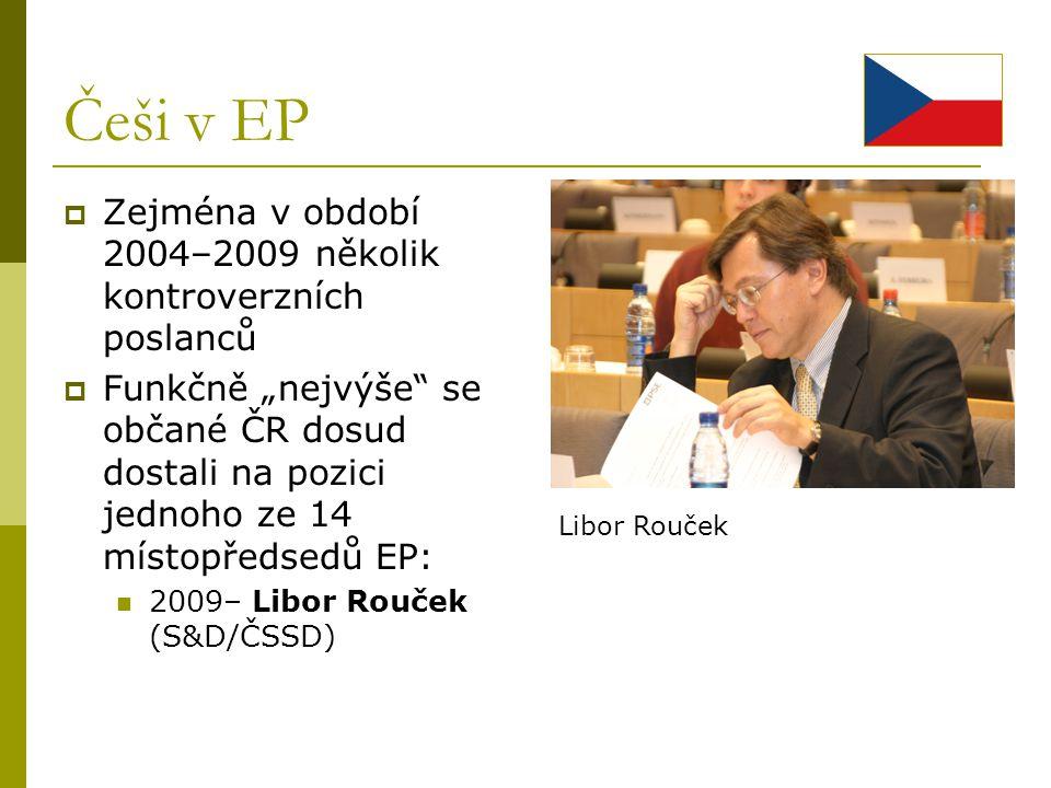 Češi v EP Zejména v období 2004–2009 několik kontroverzních poslanců