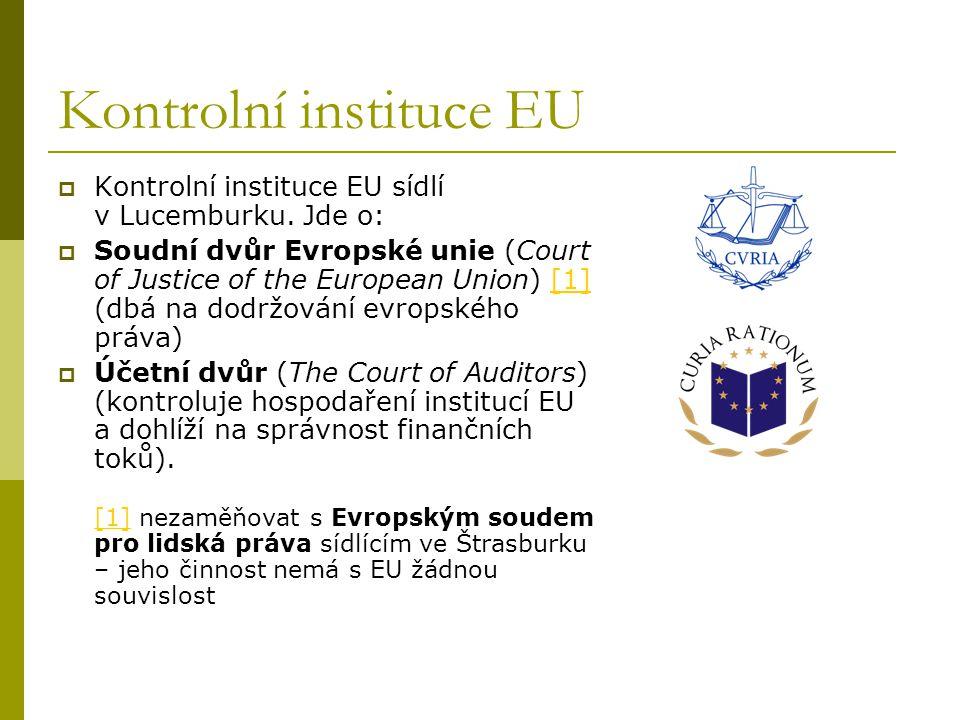 Kontrolní instituce EU