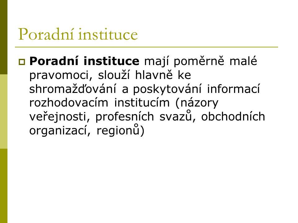 Poradní instituce