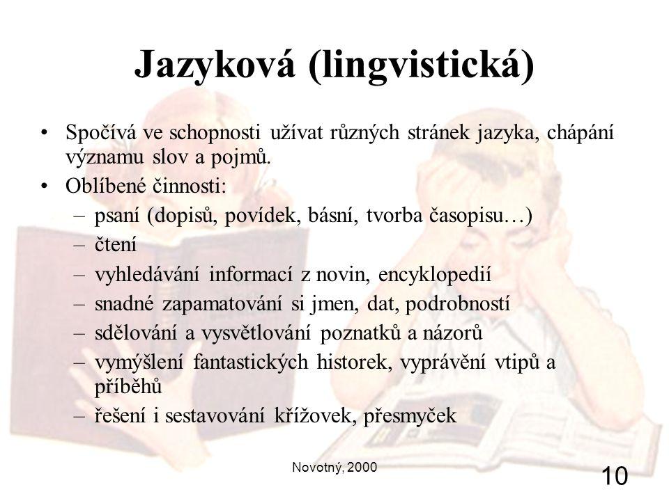 Jazyková (lingvistická)