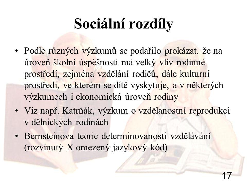 Sociální rozdíly