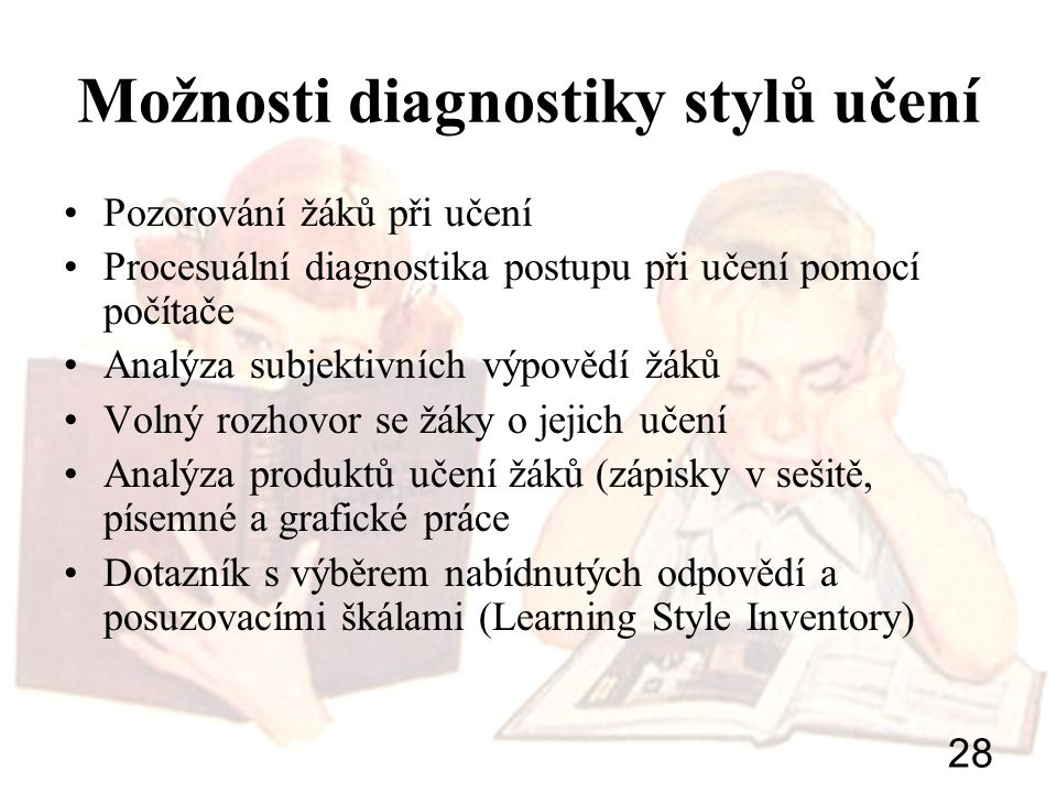 Možnosti diagnostiky stylů učení