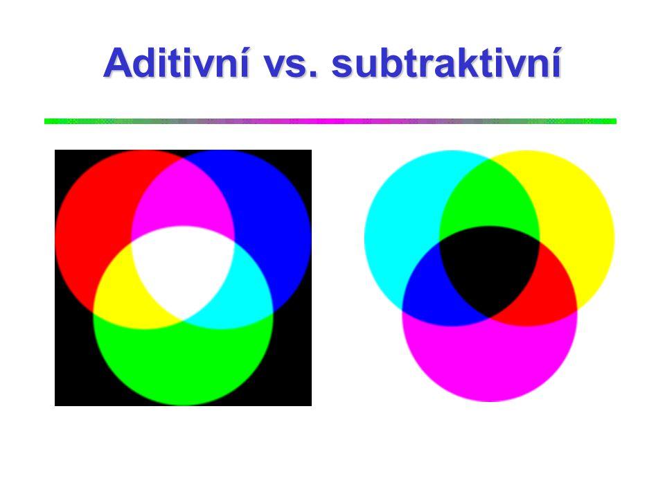 Aditivní vs. subtraktivní