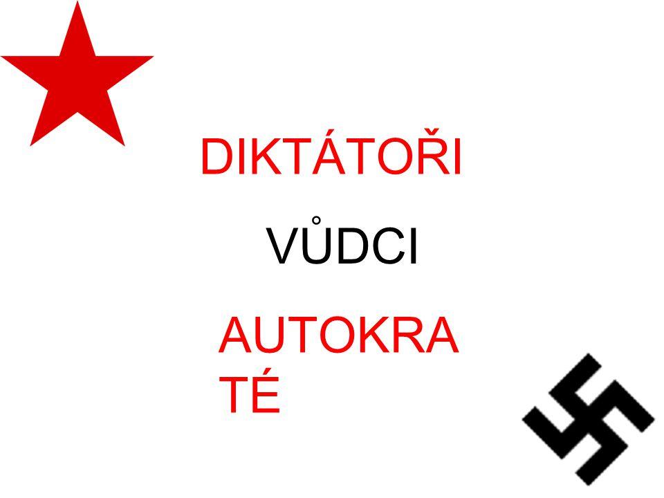 DIKTÁTOŘI VŮDCI AUTOKRATÉ