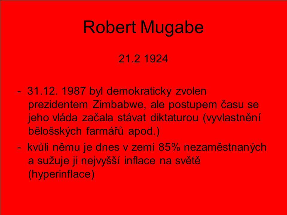 Robert Mugabe 21.2 1924.