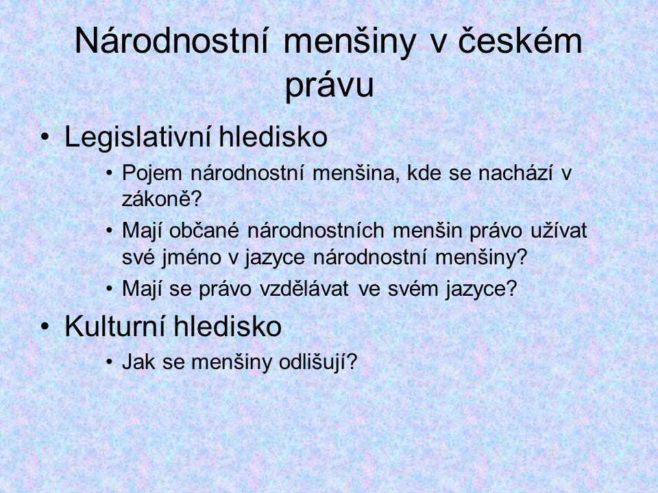 Národnostní menšiny v českém právu